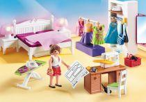 Revenda Playmobil - PLAYMOBIL 70208 Quarto com Mesa de Costura Dollhouse 67pcs   4+