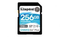 Revenda Secure Digital SD - Cartão memória Kingston Canvas Go! Plus 256GB SDXC preto UHS-I (U3), A