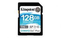 Revenda Secure Digital SD - Cartão memória Kingston Canvas Go! Plus 128GB SDXC preto UHS-I (U3), C