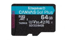 Revenda Micro SD / TransFlash - Cartão memória Kingston Canvas Go! Plus 64GB microSDXC preto UHS-I (U3