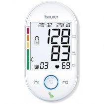 Revenda Medidores Tensão arterial - Medidor Tensão Arterial Beurer BM55 branco/cinza   Braço