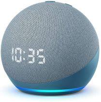Comprar Colunas Sem Fio - Colunas Smart Assistant Amazon Echo Dot 4 Twilight Azul com relógio