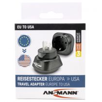 Revenda Adaptadores de Rede - Adaptador Ansmann Travel Plug EU para US