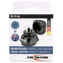 Revenda Adaptadores de Rede - Adaptador Ansmann Travel Plug EU para AU