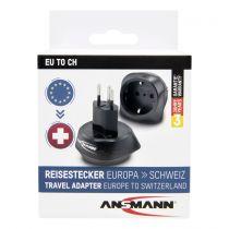 Revenda Adaptadores de Rede - Adaptador Ansmann Travel Plug EU para CH