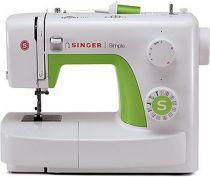 Revenda Máquinas de Costura - Máquina Costura Singer Simple 3229 branco/verde | Tipos de costura: pa