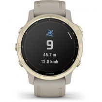 Revenda GPS Montanhismo Portátil - Relógio desporto Garmin fenix 6s Pro Solar brancogold/beige