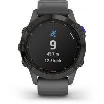 Revenda GPS Montanhismo Portátil - Relógio desporto Garmin fenix 6 Pro Solar preto/cinza