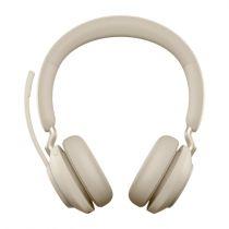 Revenda Auriculares - Auricular Jabra Evolve2 65 Auscultadores beige, UC, USB-A   On-Ear   M