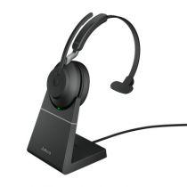 Revenda Auriculares - Auricular Jabra Evolve2 65 Auscultadores preto UC, USB-A, Charging sta