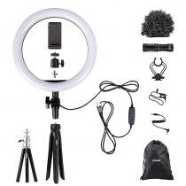 Comprar Iluminação Video - Kit Acessórios Vlogger Dorr VL-26 Vlogging-Kit + Microphone