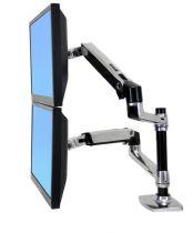 Revenda Suporte LCD/Plasma/TFT - Ergotron LX Dual Stacking Arm Kit montagem (presilha mesa, em anel met