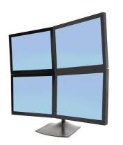 Revenda Suporte LCD/Plasma/TFT - Ergotron DS100 Quad-Monitor Desk Stand Plataforma 4 visores LCD alumín