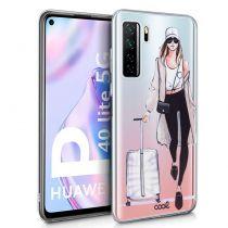 Comprar Acessórios Huawei P40 / P40 Pro - Capa Huawei P40 Lite 5G Clear Girl