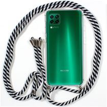 Comprar Acessórios Huawei P40 / P40 Pro - Capa Huawei P40 Lite c/fio Branco-Preto