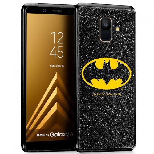 Capa Samsung Galaxy A6 Licença DC Glitter Batman