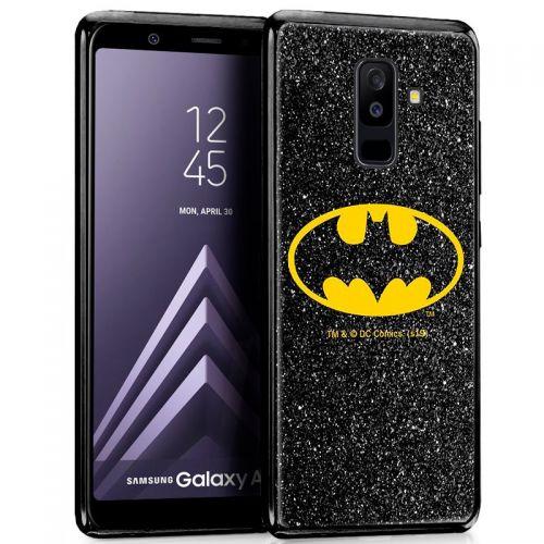 Capa Samsung Galaxy A6 Plus Licença DC Glitter Batman