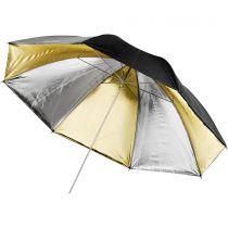 Revenda Difusores Flash - walimex Reflex Umbrella Dual gold/silver 2 lay, 109cm