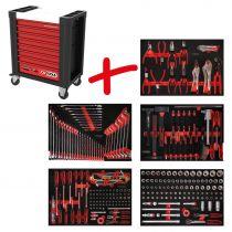 Revenda Malas / Sacos Ferramentas - Caixa Ferramentas Móvel KS Tools Performanceplus Tool Trolley Set P10