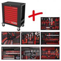 Revenda Malas / Sacos Ferramentas - KS Tools Performanceplus Tool Trolley Set P15 + 397 Tools