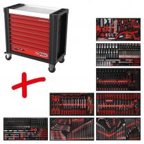 Revenda Malas / Sacos Ferramentas - KS Tools Performanceplus Tool Trolley Set P25 + 564 Tools