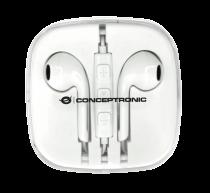 Revenda Auscultadores Conceptronic - CONCEPTRONIC Earbuds Power2Go Branco CTEARPLUG5 Pack 5