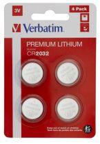 Revenda Pilhas - Pilhas 1x4 Verbatim CR 2032 Lithium Batterie           49533