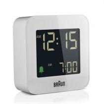Revenda Relógios Parede - Braun BC 08 W-DCF Despertador Multiband branco