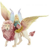 Revenda Figuras Animais - Schleich bayala            70714 Elfe auf geflugeltem Lowe