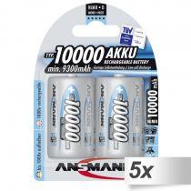 Revenda Pilhas Recarregáveis - Pilhas 5x2 Ansmann NiMH bat. 10000 Mono D 9300 mAh          5030642
