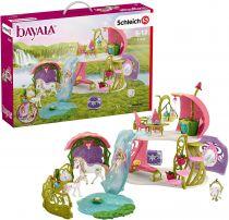 Revenda Figuras Animais - Schleich Glittering Flower Fairy House With Unicorns