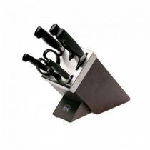 Revenda Outros utensílios Cozinha - Facas Zwilling 7 Piece Ash Self Sharpening Knife Block Brown Ash