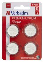 Revenda Pilhas - Pilhas 10x4 Verbatim CR 2430 Lithium Batterie           49534