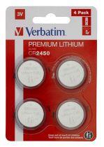 Revenda Pilhas - VERBATIM PILHAS CR2450 3V LITHIUM PACK 4