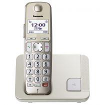 Comprar Telefones DECT sem Fios - Telefone sem-fios Panasonic KX-TGE250GN champagner