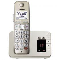 Comprar Telefones DECT sem Fios - Telefone sem-fios Panasonic KX-TGE260GN champagner