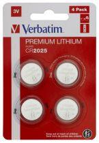 Revenda Pilhas - Pilhas 1x4 Verbatim CR 2025 Lithium Batterie           49532