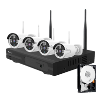 Comprar Kits CCTV - Nivian Kit videovigilância WiFi HDD 1Tb Gravador NVR 8CH 4 Câmaras 3Mp