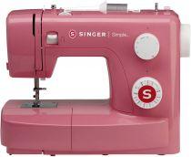 Revenda Máquinas de Costura - Máquina Costura Singer Simple 3223 Rosa| Para frente, trás, ziguez