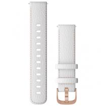 Revenda Adaptadores - Garmin Quick Release Bracelete 18 mm Branco Pele with Rose Gold Har