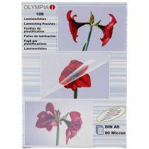 Revenda Bolsas de plastificadora - 1x100 Olympia Laminating pouches DIN A6 80 micron            9168