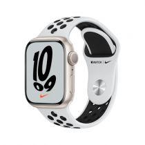 Revenda Smartwatch - Smartwatch Apple Watch Nike 7 GPS 41mm Alu Polarstern Sport Platin/pre