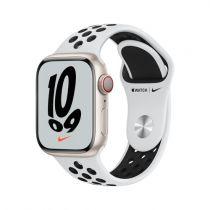 Revenda Smartwatch - Smartwatch Apple Watch Nike 7 Cell, 41mm Alu Polars. Sport Platin/pret