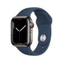 Revenda Smartwatch - Smartwatch Apple Watch 7 Cell, 41mm Inox Graphit, Sport Abbysblue