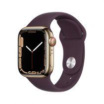 Revenda Smartwatch - Smartwatch Apple Watch 7 Cell, 41mm Inox Gold, Sport Dunkelkirsch