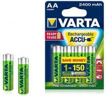 Revenda Pilhas Recarregáveis - Pilhas 1x4 Varta RECHARGE Bateria Power 2400 mAH AA Mignon NiMH