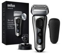 Revenda Máquinas Barbear - Maquina Barbear Braun Series 8 8417s silver | Wet & dry | Operação bat