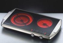 Revenda Placas eléctricas - Rommelsbacher Placa elétrica dupla CT 3400/E inox/preto | 3.400W | Fun