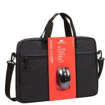 Revenda Outros Acessórios - RIVACASE 8038 Black Laptop Bag + Wireless Mouse 15,6