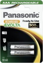 Batterie ricaricabili - PANASONIC NiMH Micro AAA 900 mAh (conjunto de 2)